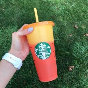 Starbucks Color Changing Cup Orange/Yellow